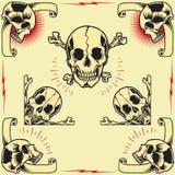 Schedelkaders Royalty-vrije Stock Afbeelding