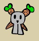 Schedelkonijntje met wortelenbeenderen Royalty-vrije Stock Afbeeldingen