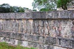 Schedelplatform in Chichen Itza Royalty-vrije Stock Afbeeldingen