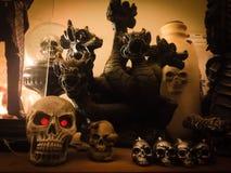Schedels en Draken stock fotografie