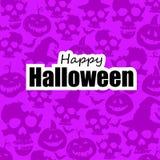 Schedels en pompoen Allen voor Halloween, Vrees en Schrik Achtergrond vector illustratie