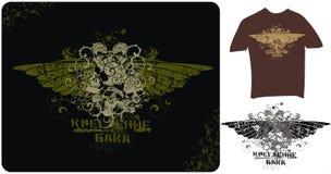 Schedels en vleugels Stock Foto