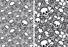 Schedels naadloze patronen, vector Stock Fotografie