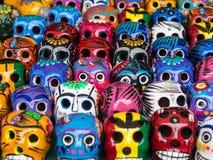 Schedels voor de Dag van de Doden in Ensenada, Baja, Californië, Mexico royalty-vrije stock afbeelding