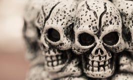 Schedels voor Halloween Stock Afbeelding