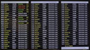 Scheduld di volo/bordo digitale informazioni di orari di partenza fotografie stock libere da diritti