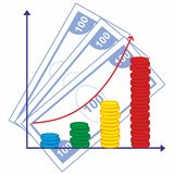 Schedule. Of income and success in business Stock Image