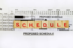 Schedule Royalty Free Stock Image