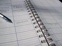 Schedule. Datebook with schedule stock photos