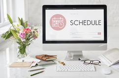 Schedule Appointment Meeting Agenda Planner Concept royalty free stock image