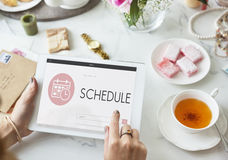Schedule Appointment Meeting Agenda Planner Concept Stock Photo