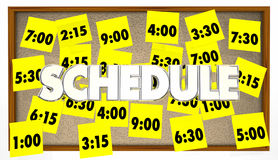Schedule Appointments Sticky Notes Stock Photo
