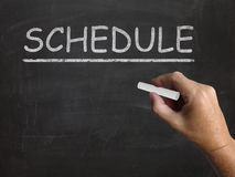Schedule Blackboard Shows Arranging Agenda Royalty Free Stock Photo