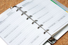 Schedule book Stock Photography