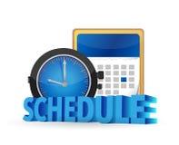 Schedule on a calendar concept Stock Image