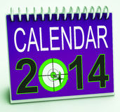 2014 Schedule Calendar Means Future Business Targets Stock Photos