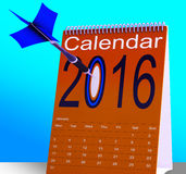 2016 Schedule Calendar Shows Future Business Targets Stock Photos