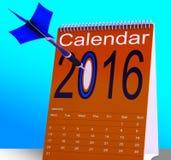 2016 Schedule Calendar Shows Future Business Targets. 2016 Schedule Calendar Showing Future Business Targets Stock Photos
