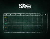 Schedule on chalkboard Royalty Free Stock Image