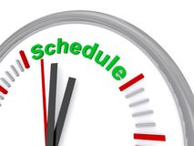 Schedule clock Stock Photography