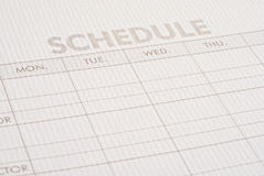 Schedule Royalty Free Stock Images