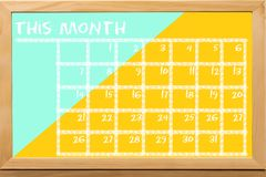 Schedule colorful for monthly note. Concept about education or business background Stock Images