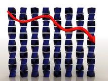 Schedule of decline #1 Stock Images