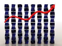 Schedule of decline Stock Photo