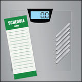 Schedule for floor scales Royalty Free Stock Photos