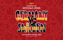 World Cup russia 2018 Grup f sweden vs germany. A schedule grup F world cup 2018, germany vs south korea stock illustration