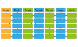 Schedule info graphic  background Royalty Free Stock Image