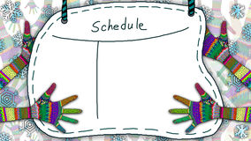 Schedule Note Royalty Free Stock Photo