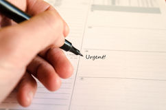 Schedule Notepad Royalty Free Stock Photos