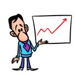 Schedule  presentation man cartoon Stock Photo
