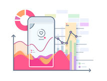 Schedule pulse on smartphone Royalty Free Stock Photo