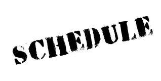 Schedule rubber stamp Stock Photos