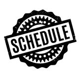Schedule rubber stamp Stock Photography