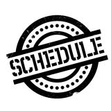 Schedule rubber stamp Stock Photo