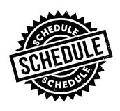 Schedule rubber stamp Royalty Free Stock Images