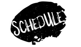 Schedule rubber stamp Royalty Free Stock Image