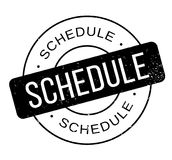Schedule rubber stamp Royalty Free Stock Photo