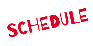 Schedule rubber stamp Royalty Free Stock Photography