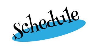 Schedule rubber stamp Stock Images
