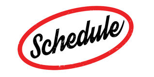 Schedule rubber stamp Royalty Free Stock Photos