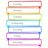 Schedule. Speech bubbles. Stock Image