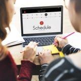 Schedule Time Management Planner Concept Stock Photos