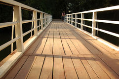 Schedule a wooden bridge Stock Photo