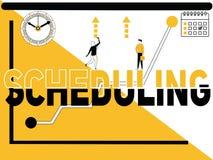 Scheduling creativo y gente del concepto de la palabra libre illustration