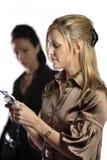 Scheduling uma nomeação da reunião no pda. Fotos de Stock Royalty Free