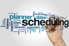 Schedulingswortwolke Stockfoto